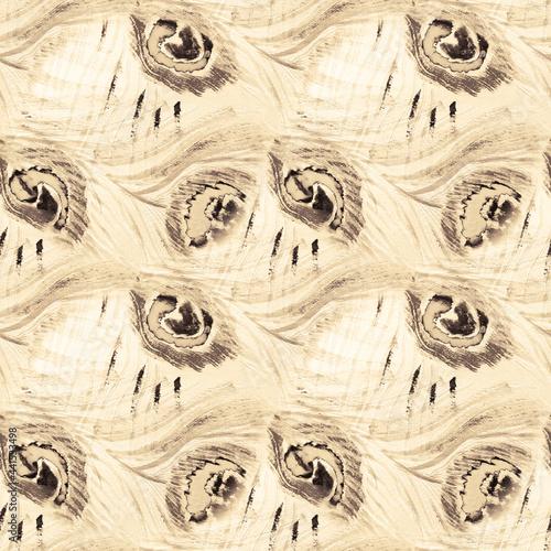 bezszwowa-ilustracja-brazowy-ptak-tla
