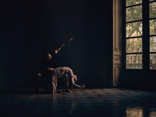 Couple Performing Ballet Positions