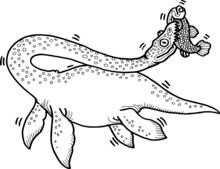 Hand Drawn Vector Illustration Of A Dinosaur
