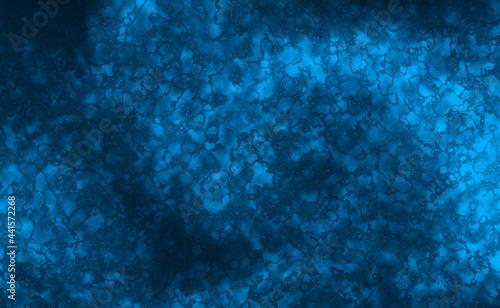 Fotografie, Obraz Dark blue frost background with marbled blotchy texture