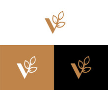 Logo Letter V - All Elements On This Template