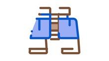 Binoculars Icon Animation. Color Binoculars Animated Icon On White Background