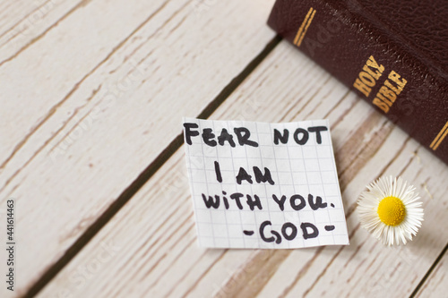 Slika na platnu Fear not, do not be anxious, I am with you