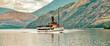 Lake Wakatipu  - Binnensee  Südinsel  Neuseelands,  Region Otago, Bootstour mit  Dampfschiff