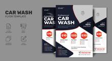 Modern Car Wash Flyer, Car Detailing, Auto Detailing Flyer, Car Wash Poster    Car Cleaning Service Leaflet Design. Business Promotion Poster.  Car Maintenance Flyer
