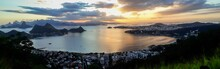 Panoramic Of Rio De Janeiro And Guanabara Bay From Niteroi City Observatory, Brazil