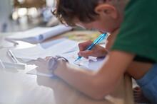 Close Up Boy Drawing