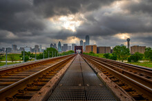 Dallas , Texas Looking From Railroad Track