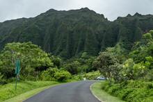 Koolau Range, Hoomaluhia Botanical Garden, Honolulu, Oahu, Hawaii. Koʻolau Range Is A Name Given To The Dormant Fragmented Remnant Of The Eastern Or Windward Shield Volcano Of Oahu
