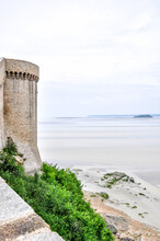 From Various Points On Mont Saint-Michel You Have A Fantastic View Of The Bay And The Mainland. At Low Tide You Can See Many Waders Making The Crossing To Mont Saint-Michel.