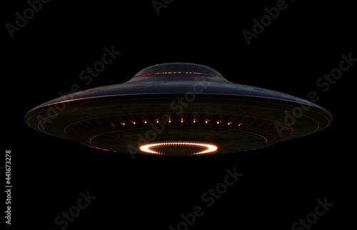 Unidentified Flying Object - Clipping Path Included Fotobehang