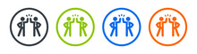 Two Businessman Giving High Five Each Other Vector Icon. Friends And Partnership Concept