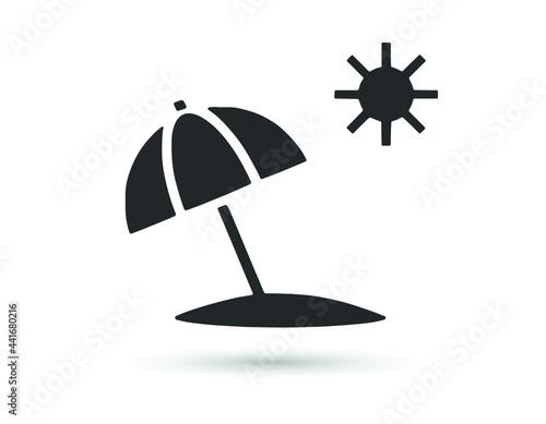 Fototapeta Beach, sunbathe Isolated Vector Icon which can easily modify or edit