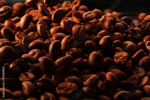 Canvastavla Texture of coffee beans
