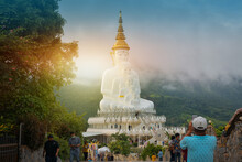 12 September 2020 At Phetchabun Province Thailand People Travel Holiday At Wat Pha Son Kaew Khao Kho Phetchabun Province Thailand