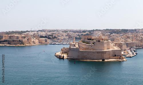 Fotografiet Fort St. Angelo. A bastioned fort in Birgu, Malta