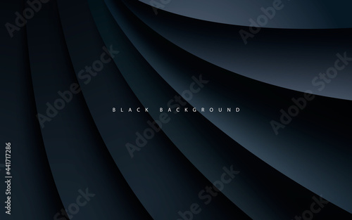 Black abstract dimension background realistic style Fotobehang