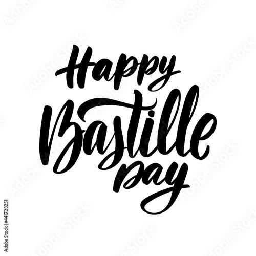 Canvastavla Illustration, card, banner or poster for Happy Bastille Day