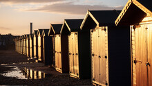 Sun Kissed Beach Huts In Sussex