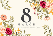 Beautiful Floral Women S Day Background Design Vector Illustration