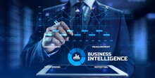 Business Intelligence BI Concept Analytics Intelligence Big Data Analyze.
