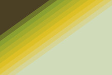 Abstract Background With Gradient Yellow And Green Lines On A Brown And Beige Background