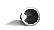 Round Pipe Metal Profile - Isolated Design Industrial 3D Illustration