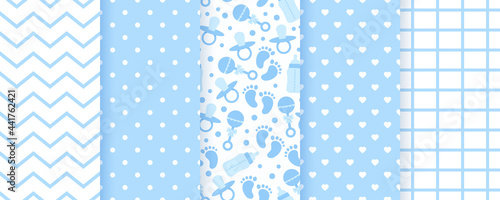 Canvas Baby blue seamless patterns