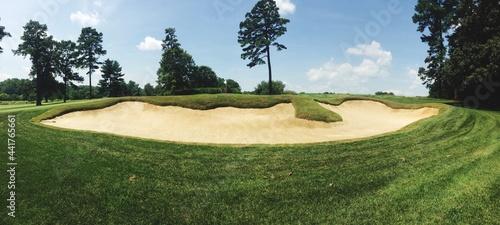 Fotografia High Angle View Of Golf Course Against Sky