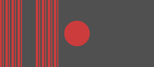 Red Circles And Lines On A Gray Background. Background Texture