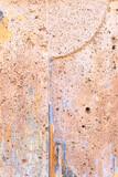 Fototapeta Kamienie - Czerwono brązowe tło, tekstura zniszczona brudna ściana, popękana struktura.