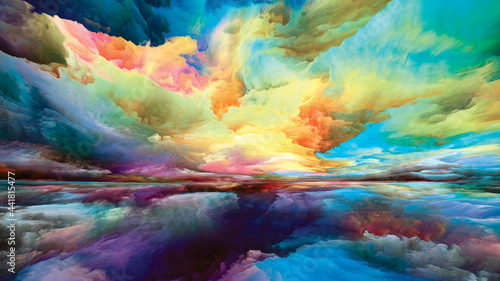 Fotografie, Obraz Illusion of Land and Sky