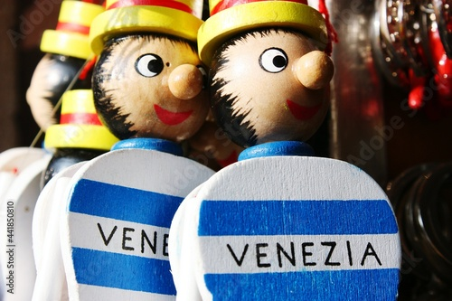 Fototapeta Pinocchio Toys In Venice