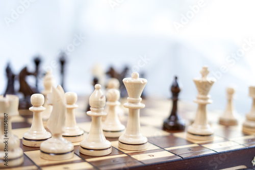 Chessboard And Chess Game Fototapeta