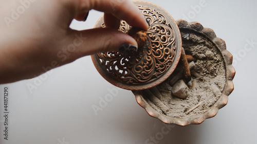 Fotografia, Obraz Smoky Incense Bowl