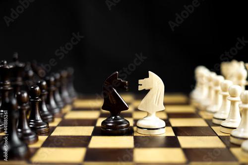 Obraz na płótnie Close-up Of Chess Board
