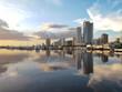 Leinwandbild Motiv View Of Buildings In City At Waterfront