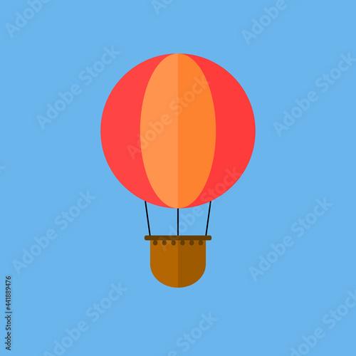 Fototapeta Vector illustration of hot air balloon.