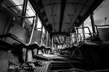View Of Tram In Ruins