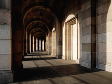 Corridor Of Congress Hall On The Nazi Party Rally Grounds In Nuremberg