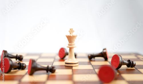 Billede på lærred Chessboard And Chess Game