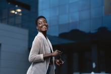 Stylish Black Woman Looking Away