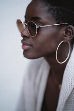 Stylish Black Woman In Sunglasses