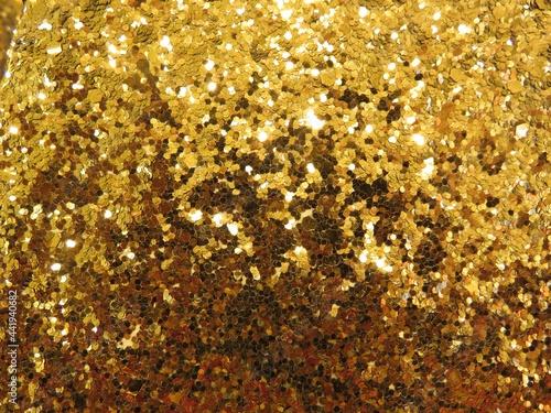 Fotografía Gold Glitter Hintergrund glänzend