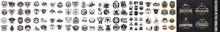 Outdoor Retro Emblems,  Collection Of Vintage Explorer, Wilderness, Adventure, Camping Emblem Graphics, Vintage Camping Badges And Labels, Outdoor Retro Emblems, Label Of Outdoor Retro Emblems In Dark