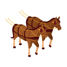 Carriage Horses Icon