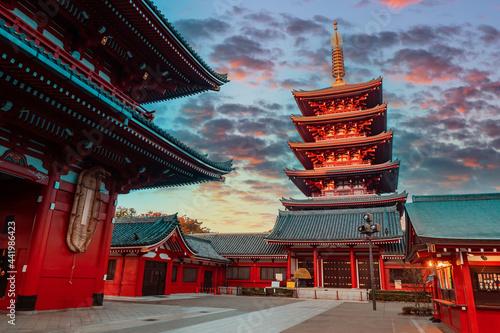 Obraz na plátně Asakusa Shrine in Tokyo