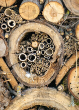 Insect House For Different Insects Of Different Shapes, Sizes And Structures Natural Materials, Help For Nature, A Bug Hotel Or Insect House
