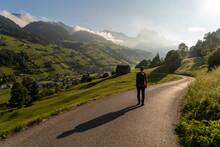 In Der Schweiz Bei Den Churfirsten