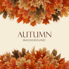 Autumn Background With Falling Leaves. Vector Illustration